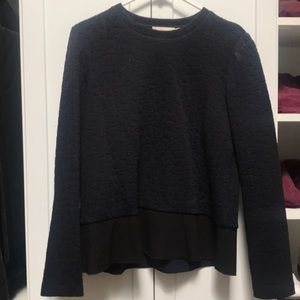 Navy and black sweater